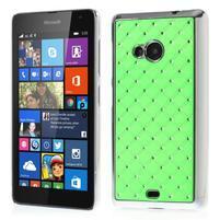 Drahokamový kryt na Microsoft Lumia 535 - zelený