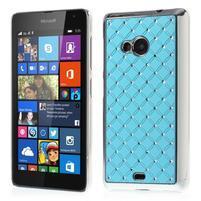Drahokamový kryt na Microsoft Lumia 535 - světle modrý