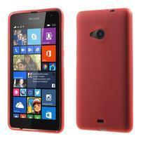 Matný gelový obal Microsoft Lumia 535 - červený