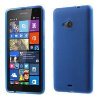 Matný gelový obal Microsoft Lumia 535 - modrý