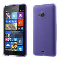 Matný gelový obal Microsoft Lumia 535 - fialový