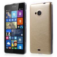 Ultra tenký kryt s jemnými koženkovými zády Microsoft Lumia 535 - champagne