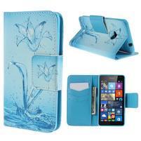 Peněženkové pouzdro Microsoft Lumia 535 - vodní květ
