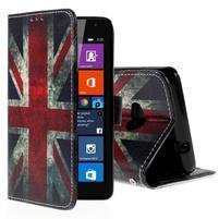 Peněženkové pouzdro Microsoft Lumia 535 - UK vlajka