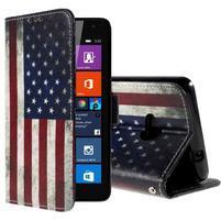 Peněženkové pouzdro Microsoft Lumia 535 - US vlajka
