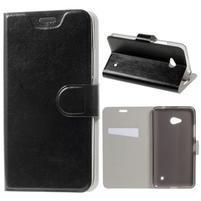 Černé peněženkové pouzdro na Microsoft Lumia 640 LTE