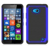 Odolný hybridní kryt na mobil Microsoft Lumia 640 - modrý