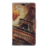 Peněženkové pouzdro na mobil Microsfot Lumia 550 - Eiffelova věž
