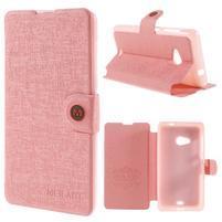 Solid pouzdro na mobil Microsoft Lumia 535 - růžové
