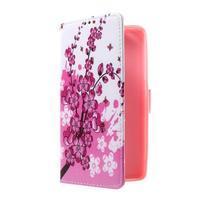 Cross peněženkové pouzdro na Huawei Honor 7 - kvetoucí větvička