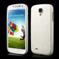 Gelový kryt s broušeným vzorem na Samsung Galaxy S4 - bílý
