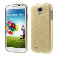Gelový kryt s broušeným vzorem na Samsung Galaxy S4 - zlatý