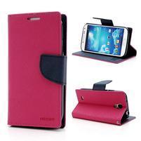 Fancy peněženkové pouzdro na Samsung Galaxy S4 -  rose