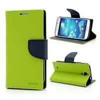 Fancy peněženkové pouzdro na Samsung Galaxy S4 - zelené