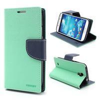 Fancy peněženkové pouzdro na Samsung Galaxy S4 -  azurové