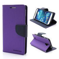 Fancy peněženkové pouzdro na Samsung Galaxy S4 -  fialové