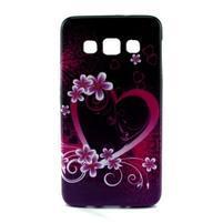 Gelový kryt na Samsung Galaxy A3 - srdce