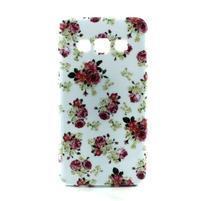 Gelový kryt na Samsung Galaxy A3 - květiny