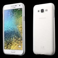 Broušený gelový obal pro Samsung Galaxy E7 - bílý