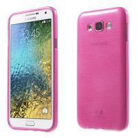 Broušený gelový obal pro Samsung Galaxy E7 - rose