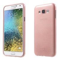 Broušený gelový obal pro Samsung Galaxy E7 - růžový