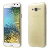 Broušený gelový obal pro Samsung Galaxy E7 - champagne