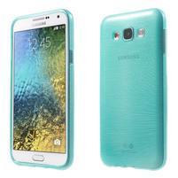 Broušený gelový obal pro Samsung Galaxy E7 - tyrkysový