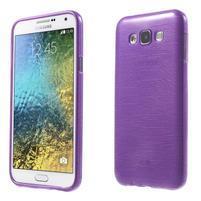 Broušený gelový obal pro Samsung Galaxy E7 - fialový