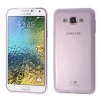Ulta tenký obal na Samsung Galaxy E7 - růžový