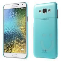Plastový kryt na mobil Samsung Galaxy E7 - tyrkysový