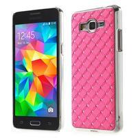 Růžový drahokamový kryt na Samsung Grand Prime