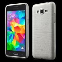 Broušený gelový obal pro Samsung Galaxy Grand Prime -  bílý