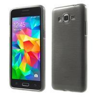 Broušený gelový obal pro Samsung Galaxy Grand Prime - šedý