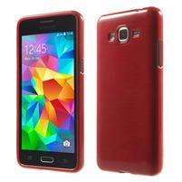 Broušený gelový obal pro Samsung Galaxy Grand Prime - červený