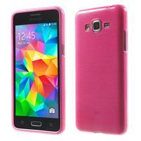 Broušený gelový obal pro Samsung Galaxy Grand Prime - rose