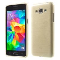 Broušený gelový obal pro Samsung Galaxy Grand Prime - zlatý
