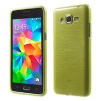 Broušený gelový obal pro Samsung Galaxy Grand Prime - zelený