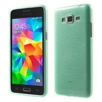 Broušený gelový obal pro Samsung Galaxy Grand Prime - cyan