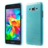 Broušený gelový obal pro Samsung Galaxy Grand Prime - tyrkysový