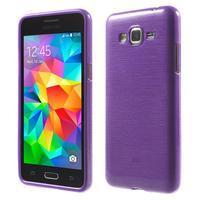 Broušený gelový obal pro Samsung Galaxy Grand Prime - fialový
