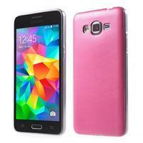 Ultratenký gelový kryt s imitací kůže na Samsung Grand Prime - rose