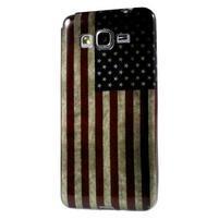 Gelový obal Samsung Galaxy Grand Prime G530H - US vlajka