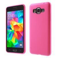 Tenký pogumovaný obal na Samsung Galaxy Grand Prime - rose