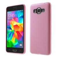 Tenký pogumovaný obal na Samsung Galaxy Grand Prime - růžový