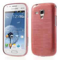 Broušený gelový kryt na Samsung Galaxy S Duos - růžový