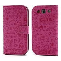 Peněženkové pouzdro na Samsung Galaxy S3 - rose