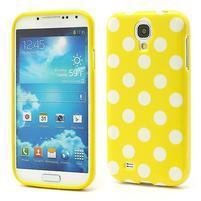 Gelové Žlutý puntíkovaný obal na Samsung  S4 I9500