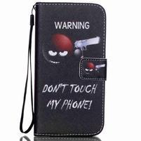 Knížkové PU kožené pouzdro na Samsung Galaxy S5 - varuju tě