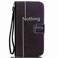 Knížkové PU kožené pouzdro na Samsung Galaxy S5 - nothing