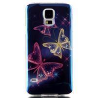 Blu-ray gelový obal s odlesky na Samsung Galaxy S5 - kouzelní motýlci